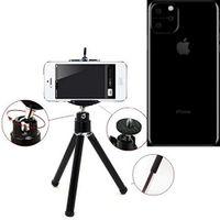 Für Apple iPhone 11 Smartphone Stativ Dreibein / Tripod aus Aluminium Klemmstativ Stativ Adapter für Apple iPhone 11 schwarz  K-S-Trade®