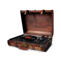 Camry Retro Plattenspieler   Schallplattenspieler   Holz Nostalgie Kofferplattenspieler  