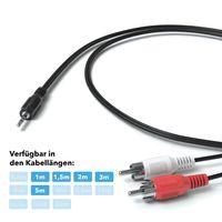 JAMEGA - 5m Cinch-Audiokabel Stereo 3,5mm Klinkenstecker auf 2 x Cinch-Stecker Klinkenkabel