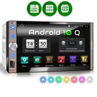 XOMAX XM-2VA769: 2DIN Autoradio mit Android 10 Navi 7 Zoll Capacitive Touchscreen Monitor, Bluetooth, SD, USB