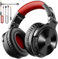 OneOdio Bluetooth Kopfhörer Over Ear [Bis zu 80 Stdn & BT 5.0] Bass Kopfhörer Kabellos mit Mikrofon für Freisprechen, HiFi Faltbares PC Headset mit Kabel, 50mm Treiber, Boom Mic für Handy/iPad/PS4