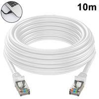 Cat 6 Ethernet Kabel LAN Kabel Flaches Netzwerkkabel Cat6 FTP Kabel mit vergoldete RJ45 kompatibel mit Cat.6 Cat.5e Cat.5 für Router, Modem, Switch