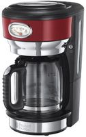 Russell Hobbs 2170 Retro Vintage Filterkaffeemaschine, Farbe:Rot