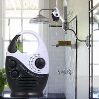 AM / FM Mini-Duschradio Badezimmer Wasserdichtes Radio H?ngendes Musikradio Eingebauter Lautsprecher (ohne Batterie)