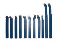 PAULIMOT Drehmeißel-Set 11-teilig mit Hartmetallplatten P30, DIN4976, 10 x 10 mm