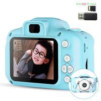 32G Kinder Kamera,Mini wiederaufladbare Kinder Digitalkamera,8MP HD Video 2 Zoll Bildschirm für Kinder