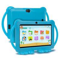 Linuode 2021 Neue Android-Kinder lernen Bildungsgeschenk-Tablet Kinder-Tablet 7 Zoll HD mit Silikonhülle aufladen