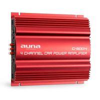auna C500.4 4-Kanal-Verstärker , Auto-Endstufe , 520 Watt Gesamteistung , brückbar, als Monoblock einsetzbar , Bass Boost , regelbare Hoch- und Tiefpass-Filter , anspruchsvolles Design