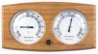 Sudorewell Sauna Messstation Klimamesser mit Thermometer + Hygrometer aus rotem Zedernholz - Finnisches Design by Opa/Lumo