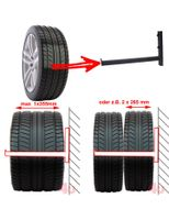 2 x Wand-Reifenhalter, 42,5cm, 50kg, (30x20mm)
