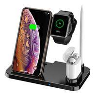 4-in-1-Wireless-Schnellladegeraet Tragbare klappbare Wireless-Ladestation Kompatibel mit iPhone / iWatch / Airpods / Apple Pencil