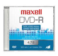 Maxell DVD-R 4.7GB 10 Pack, 4.7 GB, DVD-R, 120 min, slimcase