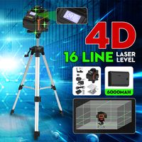 4D 16 Lines Laser Level 360° Selbstnivellierend Kreuzlinienlaser Cross Messwerk+1m Stativ