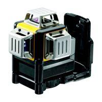 DeWALT Multilinien-Laser DCE089LR-XJ 3x 360 Grad rot - Set inklusive Batterien, Akku-Dummy, Zieltafel, Koffer und mehr - Laser selbstnivellierend horizontal und vertikal