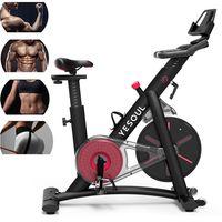 YESOUL S3 Heimtrainer Fahrrad Fitnessbike Speedbike - Ergometer Hometrainer Widerstandseinstellung mit Bluetooth bis 120kg , Schwarz