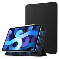 iPad Air 4 2020 10,9 Zoll Smart Cover Magnetische Befestigung Hard-Case Schutzhülle Tasche Magnet Hülle Mit Integrierte Standfunktion unterstützt Kabelloses Laden des Apple Pencil Schwarz