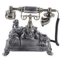 Retro Telefon Vintage Festnetztelefon Nostalgie Schnurgebundenes Haustelefon Tisch Dekoration Schwarz