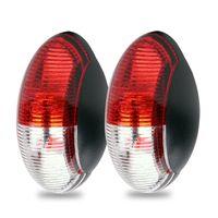 2er Set Umrissleuchte Begrenzungsleuchte LED rot/weiß 60x34 mm, 12 - 30 Volt, ECE E4-, LED