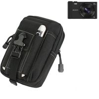 Für Sony Cyber-shot DSC-WX350 Gürteltasche / Holster schwarz Schutz Hülle Kameratasche Fototasche Case Bag für Sony Cyber-shot DSC-WX350