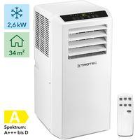TROTEC Lokales Klimagerät PAC 2610 S mobile 3-in-1 Klimaanlage Kühler Ventilator Entfeuchter 2,6 kW (9000 Btu) Energieeffizienzklasse A