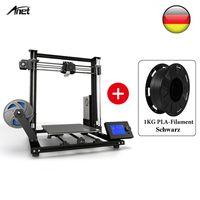 Anet A8 Plus Verbesserte Hochpräzise DIY 3D Drucker 300 * 300 * 350mm Große Druckgröße + 1KG Schwarz PLA-Filament