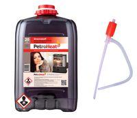 Petroleum 20 L Liter für Petroleum Ofen Heizung inkl. Hand-Pumpe zum Heizen