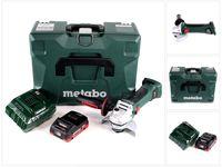 Metabo W 18 LTX 125 Quick Akku Winkelschleifer 18V 125mm ( 602174840 ) mit MetaLoc + 1x  Akku 4,0 Ah + Ladegerät