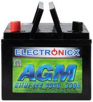 Electronicx U1(9) AGM 30AH 330A Batterie Rasentraktor Aufsitzrasenmäher