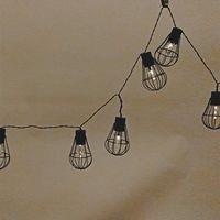 LED Solar Gitter-Lichterkette 10 flammig