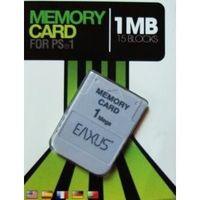 PS1 / PSX Memorycard / Speicherkarte 1 MB Eaxus