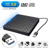 DIGOO Externes CD-RW USB 3.0 Laufwerk CD DVD-RW Slim Brenner für Notebook PC Netbook