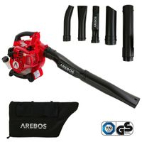 AREBOS  Benzin Laubsauger Laubbläser 3in1 1PS Häcksler Blasgerät Laubgebläse - direkt vom Hersteller