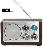 Cyberlux Retro Radio   USB-Eingang   AM Radio   FM Radio   Teleskopantenne