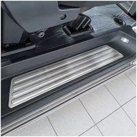 Exclusive Design V2A Einstiegsleisten für VW T6 T6.1 Multivan Caravelle ab 2015-, Farbe:Silber