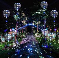 10 St/ück LED Ballons Leuchtende Luftballons Feste Dekoration Party 18 Zoll LED Bunte Bobo Helium Luftballons f/ür Hochzeit Geburtstage Weihnachten