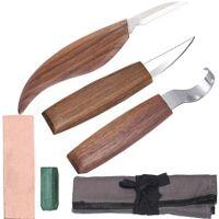 5tlg. Holz-Schnitzwerkzeug Set Holz Schnitzmesser Set für holz, Obst, Gemüse, Carving DIY