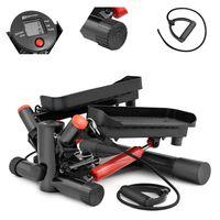 Hop-Sport Swing Side Stepper HS-035S Computer verstellbare Pedalhöhe Expander schwarz/rot