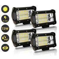 karpal LED Arbeitsscheinwerfer, 4x 72W Zusatzscheinwerfer 12V 24V 18400LM LED Scheinwerfer fuer Traktor, Offroad, SUV, ATV, Auto Rueckfahrscheinwerfer IP67, 6500K