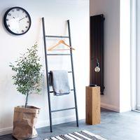 HLL-170-50-9016 170x50 cm Weiss HOLZBRINK Handtuchhalter Kleiderst/änder Handtuchleiter Vintage HxB