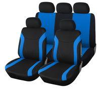 Autositzbezug Set Universal | Upgrade4cars Auto-Schonbezüge in Schwarz Blau für Vorne und Hinten | Auto-sitzbezüge Komplettset | Auto-Zubehör