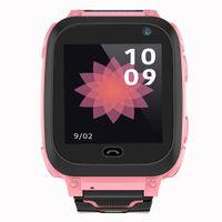 DS38 GSM Anruf Touchscreen Positionierung SOS Kamera Taschenlampe Kids Smart Watch Pink
