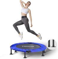 Mini Trampolin Fitness Faltbar fur Erwachsene und Kinder mit Sicherheitspad