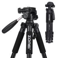 ZOMEI Q111 142cm/56 Zoll Leichtes tragbares Reisestativ aus Aluminiumlegierung mit Schnellwechselplatte/Tragetasche für Canon Nikon Sony DSLR Smartphone