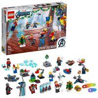 LEGO 76196 Marvel Avengers Adventskalender 2021 Spielzeugset aus Bausteinen mit Spider-Man und Iron Man für Kinder ab 7 Jahren Weihnachtsgeschenkideen