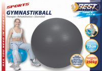 Best Sporting Gymnastikball Ø 75 cm, Farbe Anthrazit