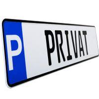 1 Stück PRIVAT P- Kennzeichen Privatkennzeichen Parkplatzschild Nummernschild Privat schwarz Parkplatzmarkierung