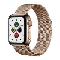 Apple Watch Series 5 GPS + Cellular 44mm Edelstahl Milanaise Armband Gold