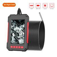 P40 Tragbare Handheld-Industrieendoskop-Endoskop-Inspektionskamera IP67 Wasserdichte 3,9-mm-Linse Eingebaute 6-teilige einstellbare LEDs mit 4,3-Zoll-HD80-Bildschirm mit 1080P-Aufloesung