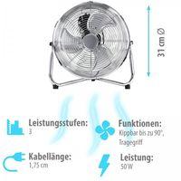 Grafner® Bodenventilator Tischventilator 31cm Durchmesser im Retro-Stil
