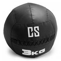 CAPITAL SPORTS Bravor - Medizinball , Wall Ball , Fitness Ball , Krafttraining , Ausdauertraining , Functional Training , extrem griffige Oberfläche , Studio Qualität , schwarz , Gewicht: 3 kg